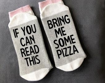 Personalised Pizza Lover Photo Socks Pizza Slut Custom Sock designs humour