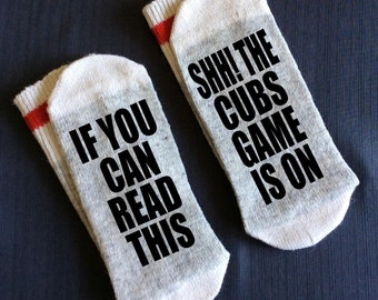 Cubs Chicago MLB Gifts Man Cave Gift Baseball Boyfriend Birthday For Dad Socks