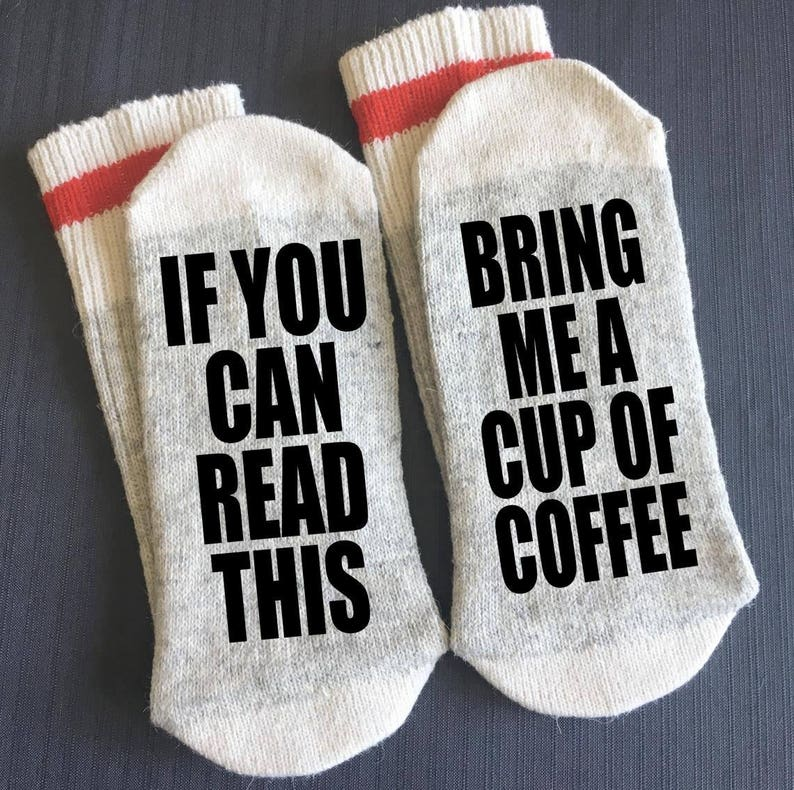 Coffee-Coffee Gift-Coffee Socks-Bring me Coffee-Teacher image 0