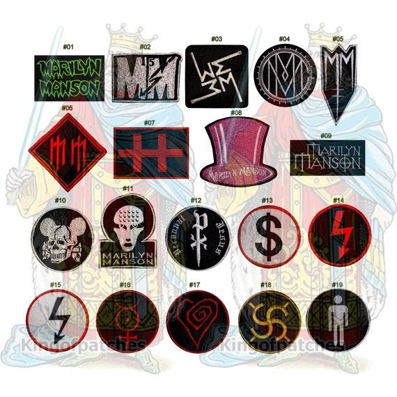 Marilyn Manson Geborduurde Patches Rock Hard Metal Muziek Etsy