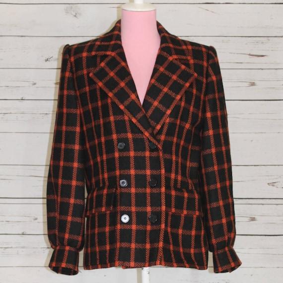 Givenchy Nouvelle Boutique Vintage 60's Plaid Coat