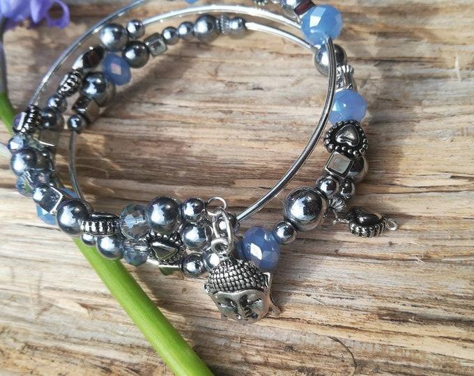 Wrap Bracelet with Charms