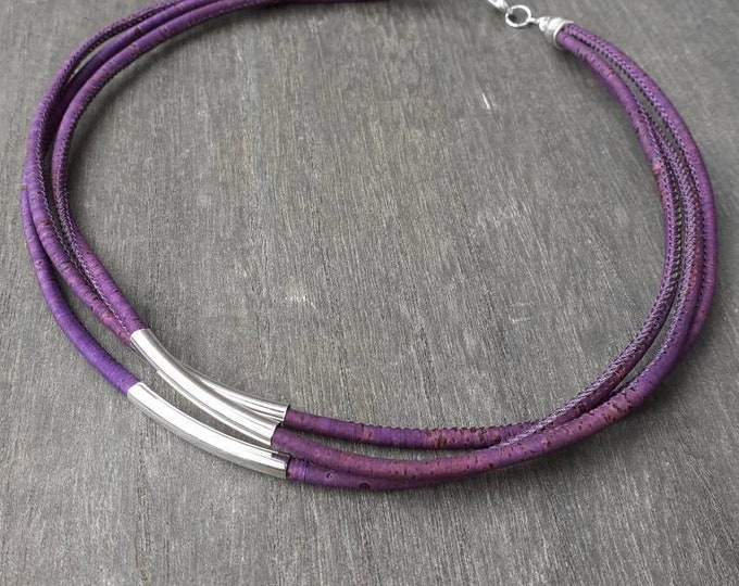 Purple necklace cork