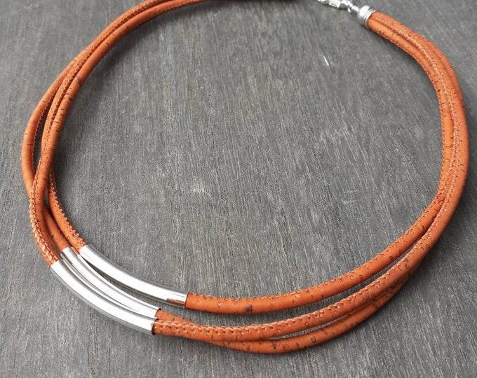 Orange necklace cork