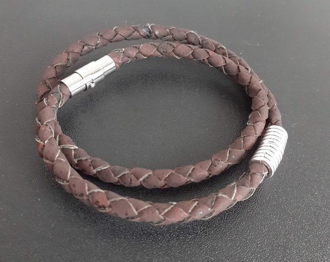 Wrap Cork Braided Bracelet