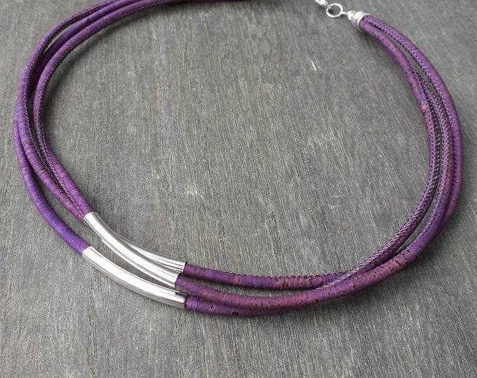 Purple necklace cork