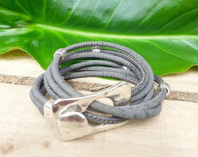 wrap bracelet for women eco friendly cork