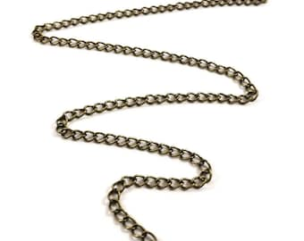 1 meter of 5 X 3 mm colored link chain bronze