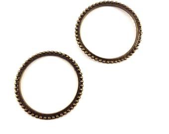 Set of 2 beaded rings bronze (Ref.51)