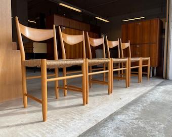 Set of 50 Danish Design Chairs Mid Century Chairs 60's Rush Chairs papercord