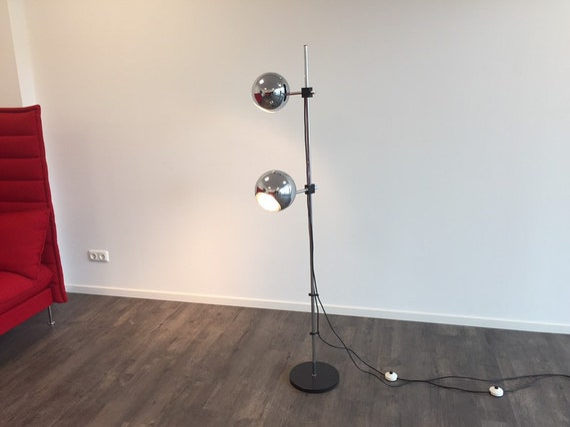 60er 70er Space Age STAFF Design Mid Century Stehlampe Kugellampe Standleuchte Bodenlampe zu Mid Century 60s 70s Teak Vintage Standardlamp