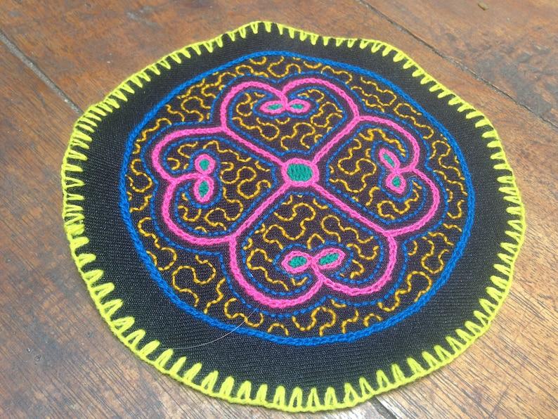 Shipbo Shipibo Patch made by a Shipiba Tribeswoman in the Jungle Chaman Shipibo Art Shamanism