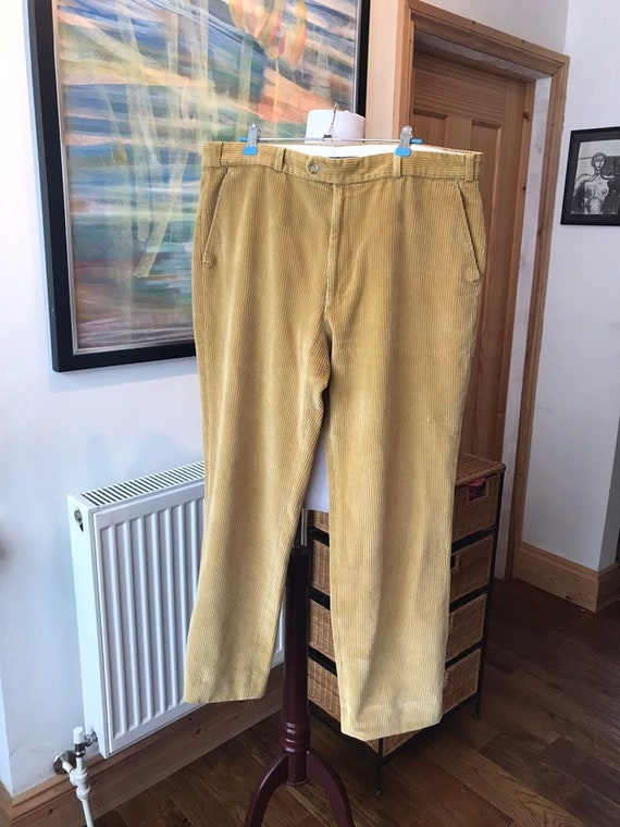 Vintage mens trousers, vintage corduroy, town and