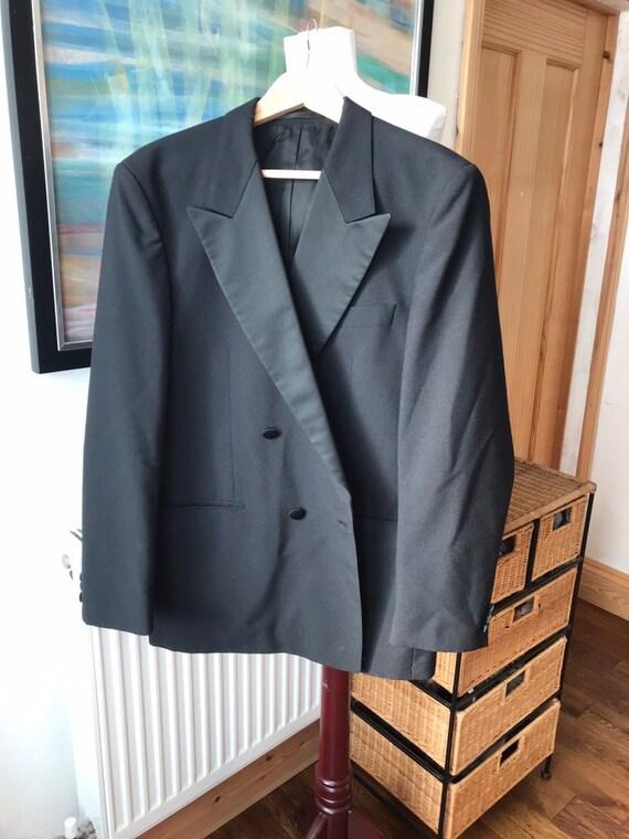 Vintage black tuxedo, dinner jacket, black tie sui