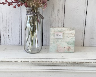 Handmade Vintage Style, Decoupaged Wooden Plaque, Wall Sign