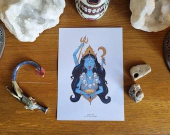 Kali Art Print - Hindu Goddess of Rebirth and Destruction