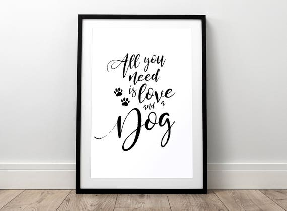 home is where your dog is quote glossy Print poster a4  picture unframed