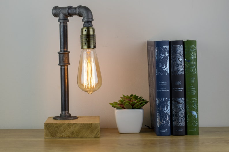 Winchester Industrial lamp  Edison Lamp  Pipe Lamp  Steampunk lamp  Industrial Lighting  Table Lamp  Lighting Home DecorIndustrial