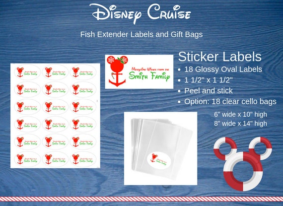 image 0  sc 1 st  Etsy & Disney Cruise Fish Extender Gift Bags and Personalized Labels | Etsy