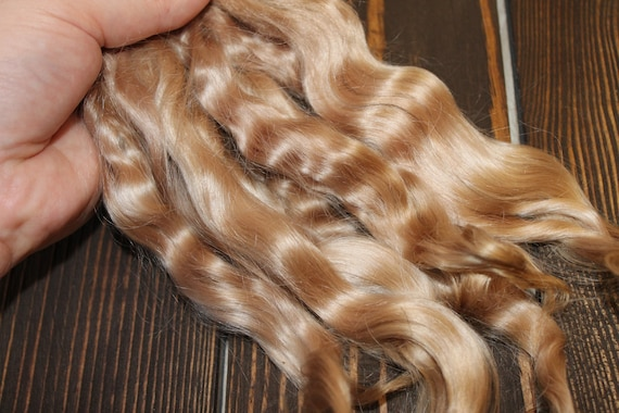"5/"" Reborn mohair Mohair locks nutty Doll hair"