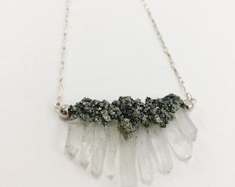 Quartz & Pyrite Necklace