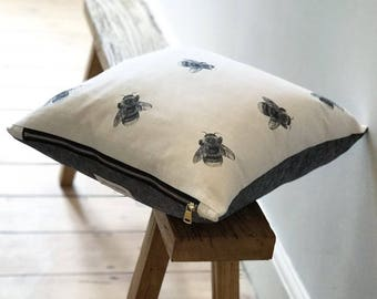 Bumblebee Cushion, designed & made in the UK