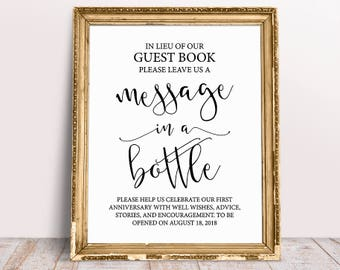 Message in a bottle guest book | Etsy