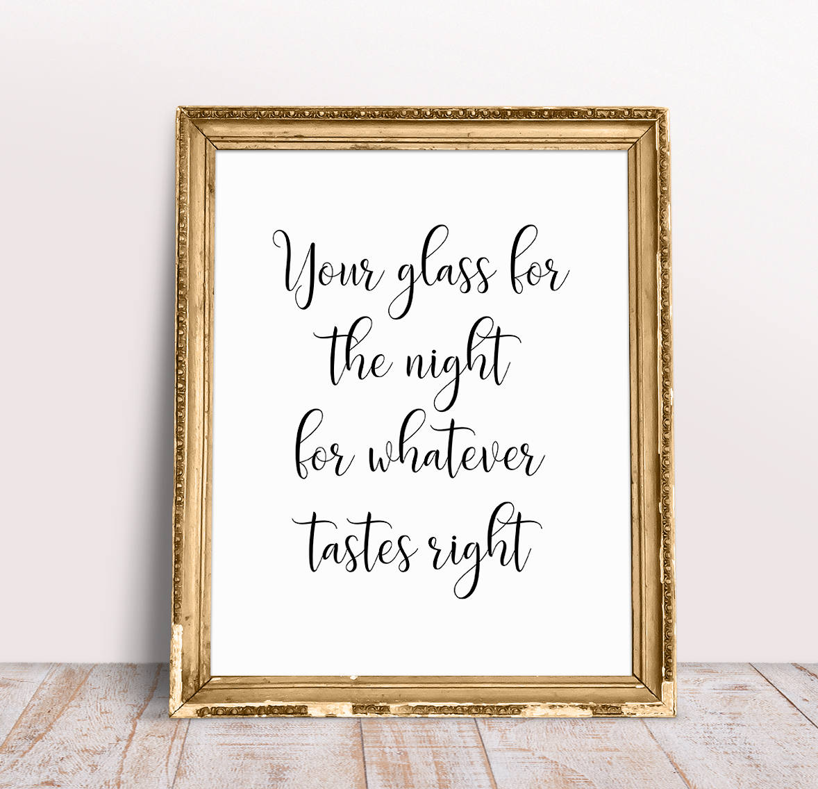 Your Glass For The Night For Whatever Tastes Right Wedding Etsy