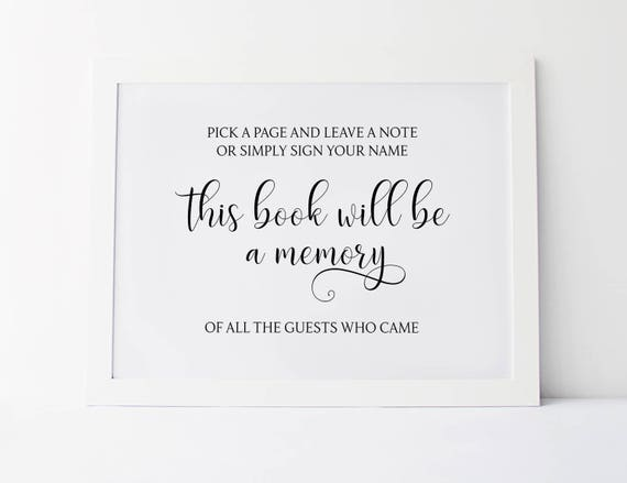 Wedding Guest Book Sign Wedding Signs Guestboard Signs for Wedding Decorations Please Sign Our Guestbook Wedding Decor