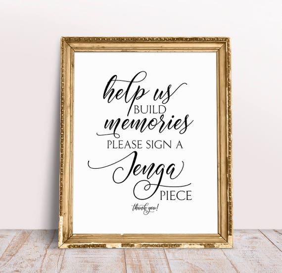 build memories sign a jenga piece printable free