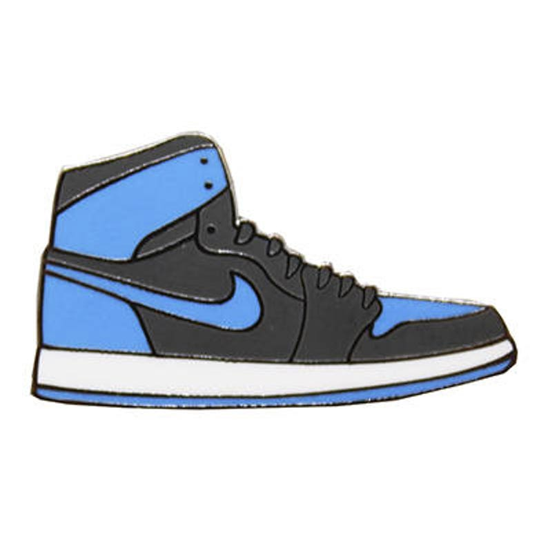 9716063cbdac8 Sneakers Air Jordan Bred 1 Blue Hard Enamel Pin