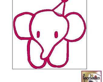 Stoffbild Elefant Etsy