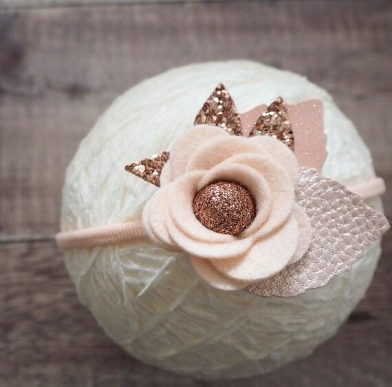 Blush Bloom Band - rose gold