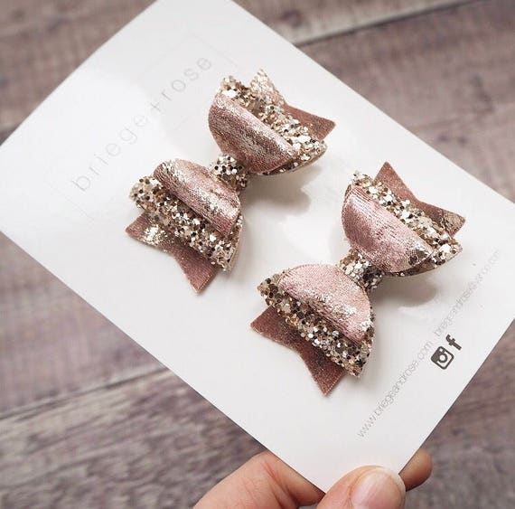 Rose Gold Velvet Pigtail Set