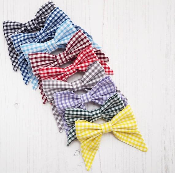 Gingham School Sailor Bow