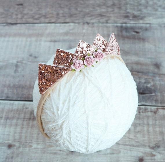 Rose Gold Crown Tiara