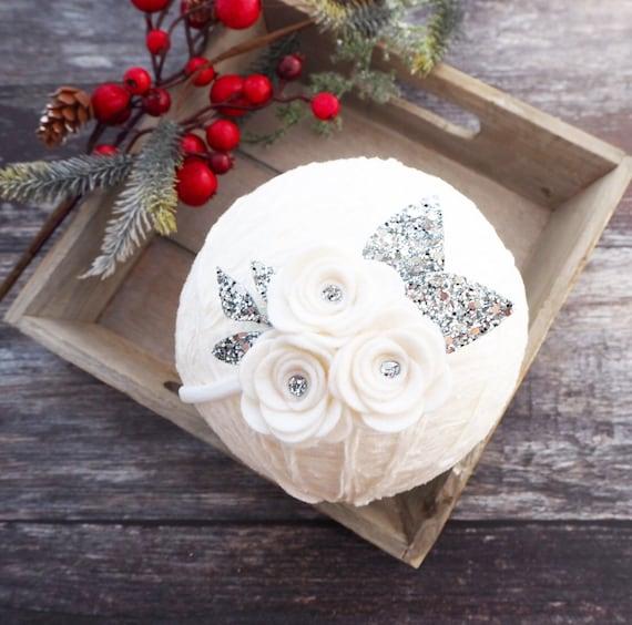 Festive Pearl Band - white & silver