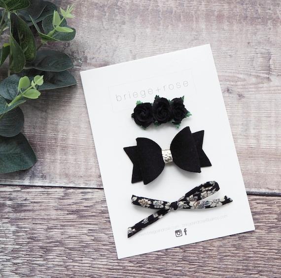 Black Floral Gift Set