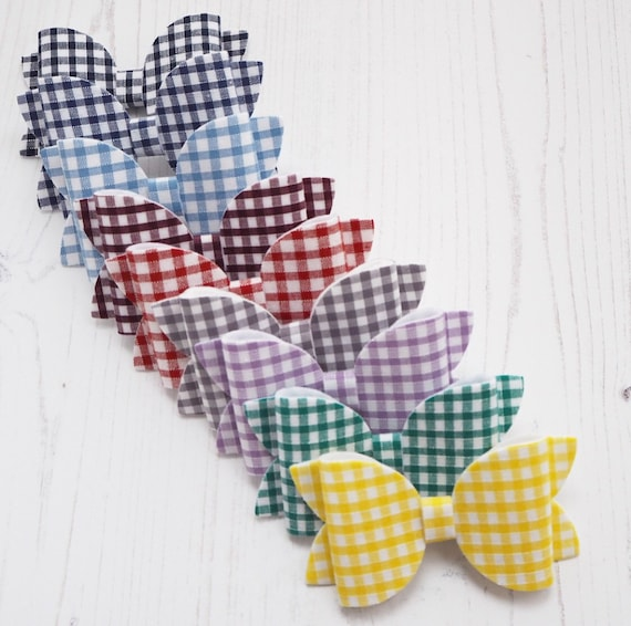 Gingham School Bow