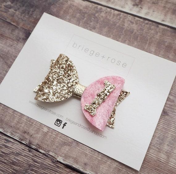Pink & Gold Birthday Bow