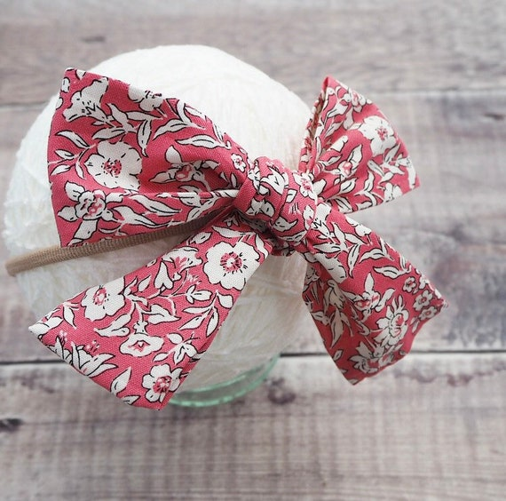 Liberty London Tied Headband - cherry