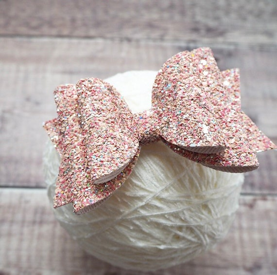 large hair bow, dance bow, cheer bow, oversized hair bow, girls headband, silver bow, pink hair clip, extra large bow, peach bow, spring bow