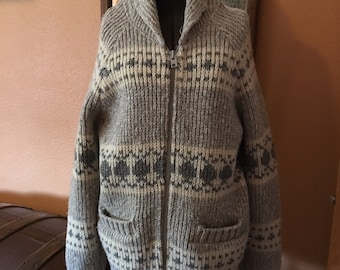 feb3751f0c021a Vintage Cowichan/Dude Sweater + 'Dude' pin