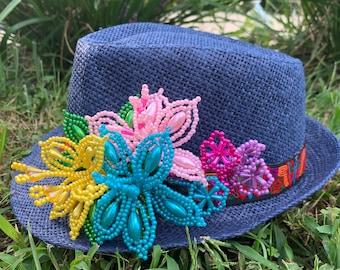 Tembleque and Mola Fedora Hat Panama Hat Panamanian Summer Beach Hat