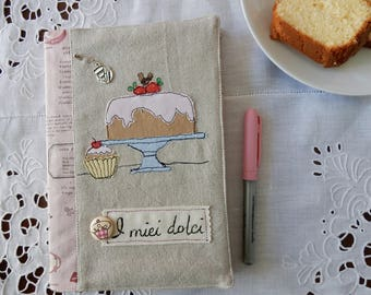 Cookbook with handmade cover