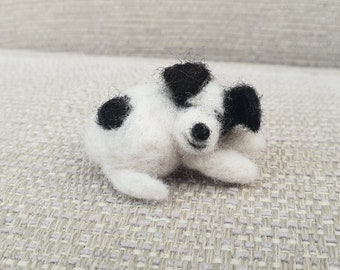 Miniature Jack Russell, doll house animals, miniature felted Dogs, tiny felted Jack Russell, Jack Russell gifts
