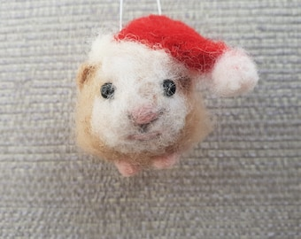 Needle felted Guinea Pig, miniature felted animals, needle felted animals, Needle felted Christmas ornament, Guinea Pig gifts, Guinea Pigs