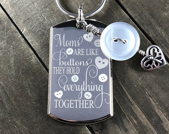 Moms are like buttons • Mother's Day gift • Gift for moms