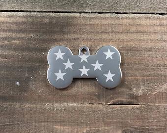 Star pattern dog tag