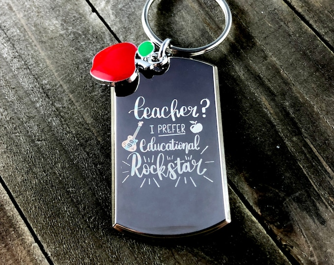 Educational rockstar • Teacher thank you gift • Gifts from students